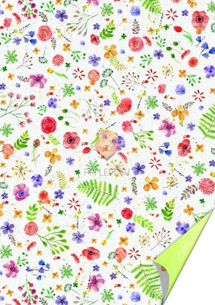 Karton z motivi Akvarelne rože 200g/m2 21x31cm 1 kos