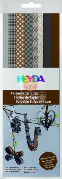 Papirnati trakovi za pletenje Sping rjava/siva 160 kosov