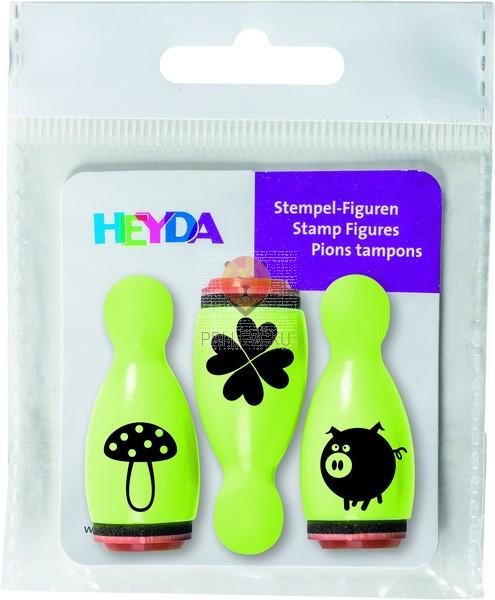 Lesene štampiljke figurice Sreča 3 kosi