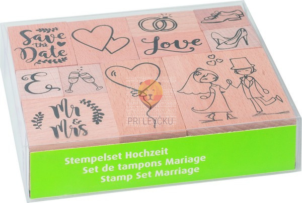 Štampiljke lesene Poroka 11 kosov