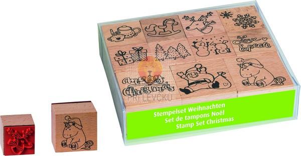 Štampiljke lesene Božič 11 kosov