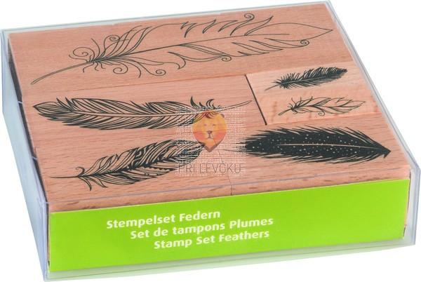 Štampiljke lesene Peresa 6 kosov