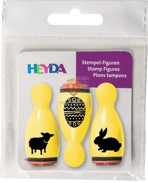 Lesene štampiljke figurice ovčka, pirh, zajček 3 kosi