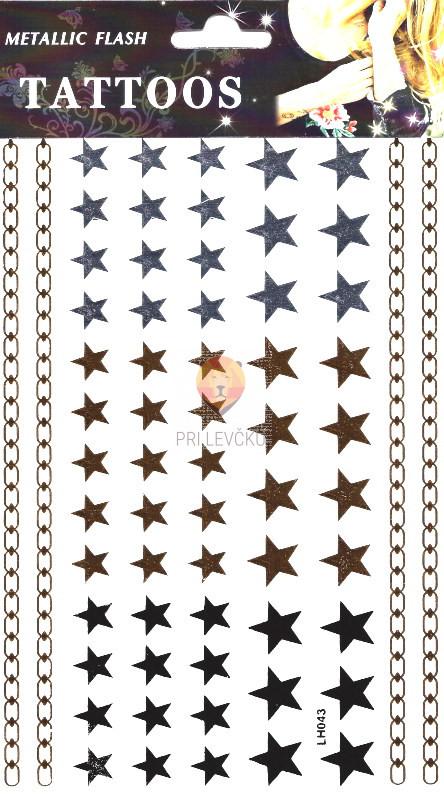 """Začasna nalepka 20x15cm """"Zvezdice"""""""