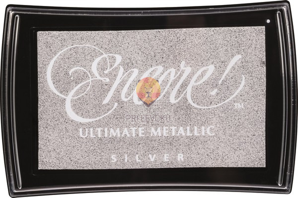 Blazinica za štampiljke Encore! Ultimate metallic - srebrna, 1 kos