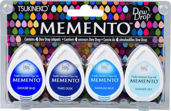 Blazinice za štampiljke Memento Dew Drops Ocean 4 kosi