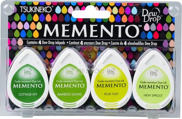 Blazinice za štampiljke Memento Dew Drops Greenhouse 4 kosi