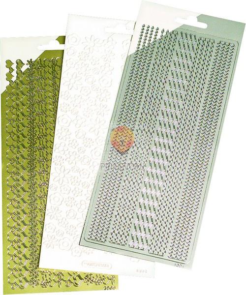Nalepke črke in številke, srebrne ali zlate barve, 1 pola
