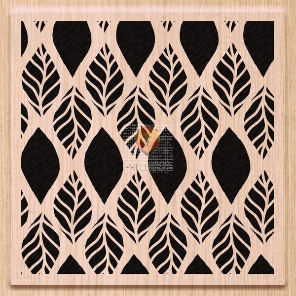 Lesena štampiljka Leteči listki 8x8cm 1 kos