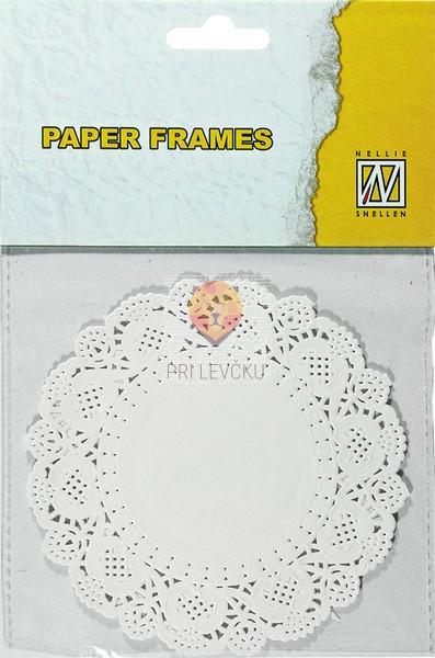 Papirnati prtički premera 11,5 cm 12 kosov