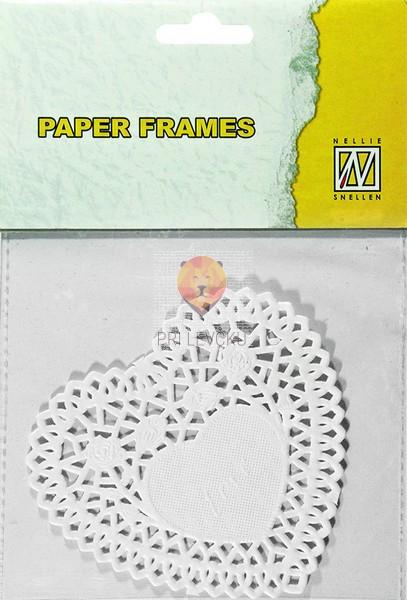 Papirnati prtički srčki 10 cm 12 kosov