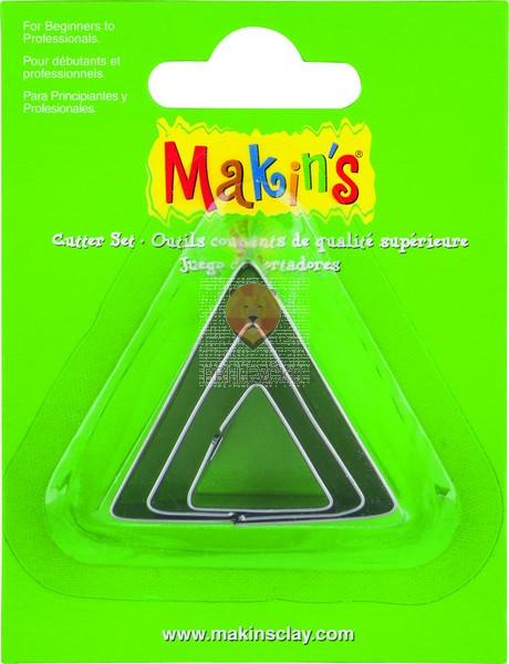 Kovinski modelčki za izrezovanje 3 kosi 3 velikosti Trikotniki
