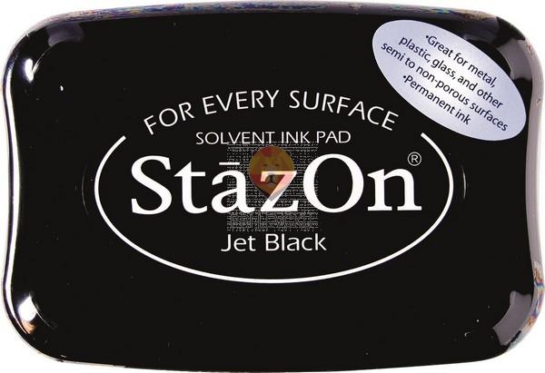 Blazinica za štampiljke StazOn za vse površine - črna, 1 kos