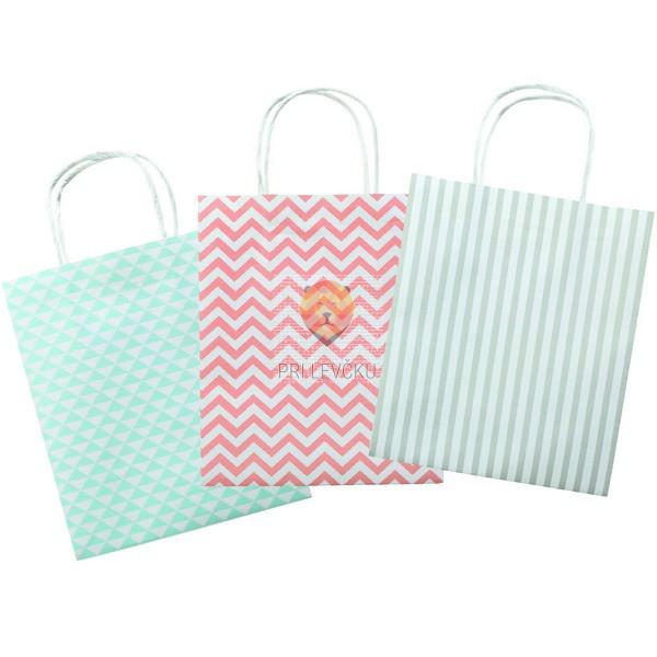 Darilna vrečka Basics 12x5,5,x15 cm 1 kos
