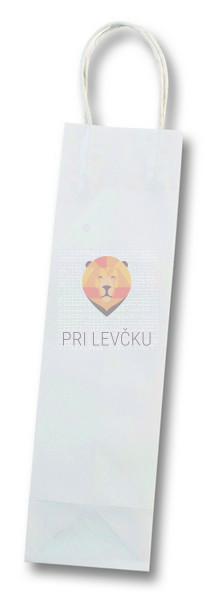 Darilna vrečka bela 10x10x36cm 1 kos