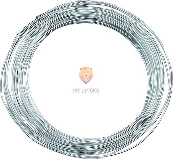 Žica srebrne barve 0,8mmx6m