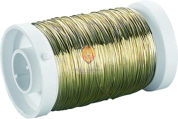 Žica zlate barve kolut 0,3mmx150m