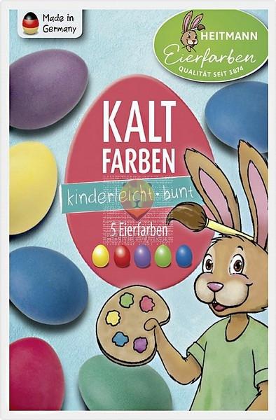 Barva za jajca v barvni tableti 5 kosov