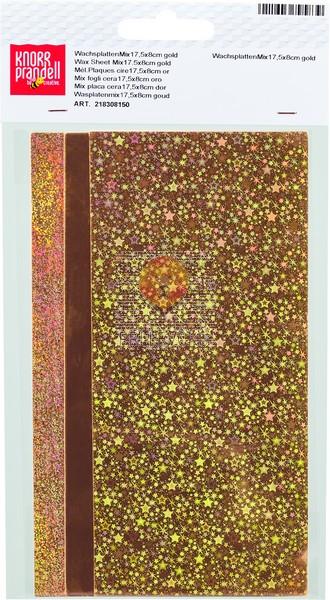 Voščene plošče miks zlate barve 3 kosi