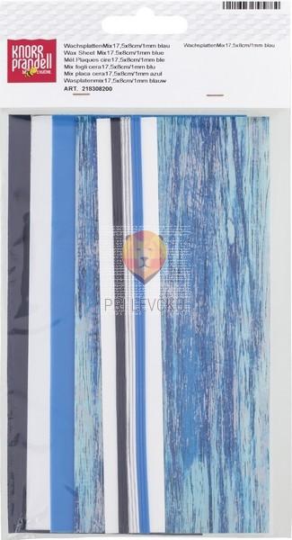 Voščene plošče modri miks set 4 plošč 175x80x0,5mm in 9 trakov 175x1mm