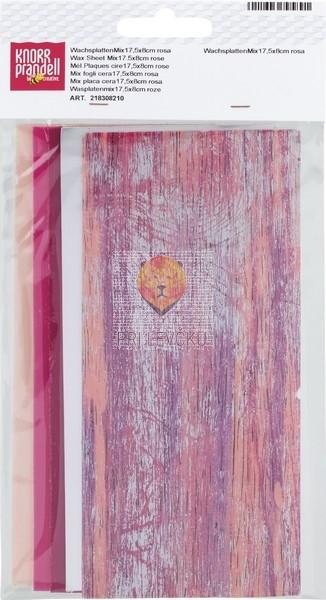 Voščene plošče miks pink barve 175x80x0,5mm 5 kosov