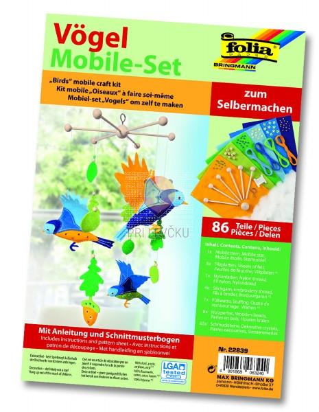 Set za izdelavo mobila Ptički 86-delni