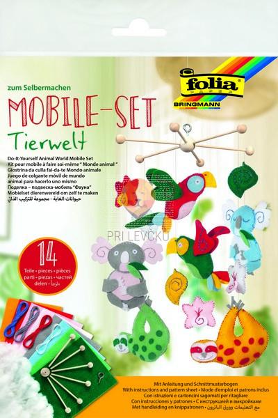 Set za izdelavo mobila Živalski svet 14-delni