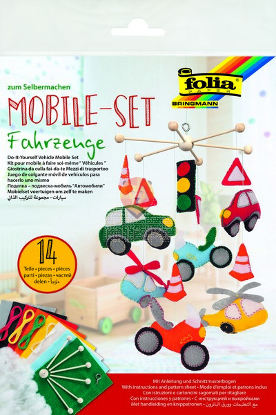 Set za izdelavo mobila Vozila 14-delni