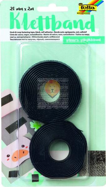 Ježek trak samolepilni črne barve 20mmx2m