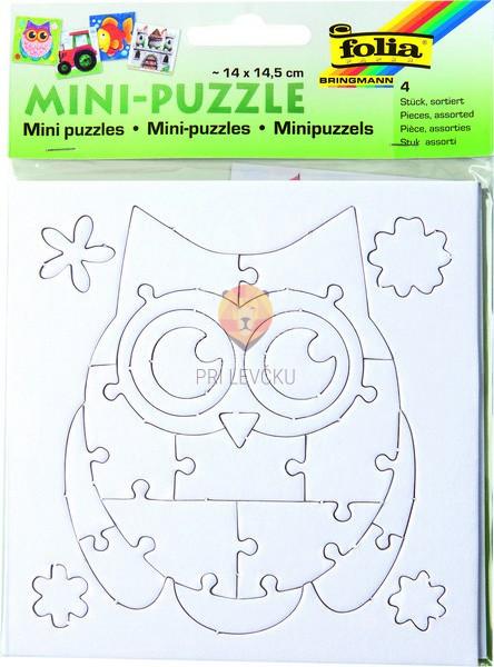 Mini sestavljanka 14x14,5 cm 4 motivi