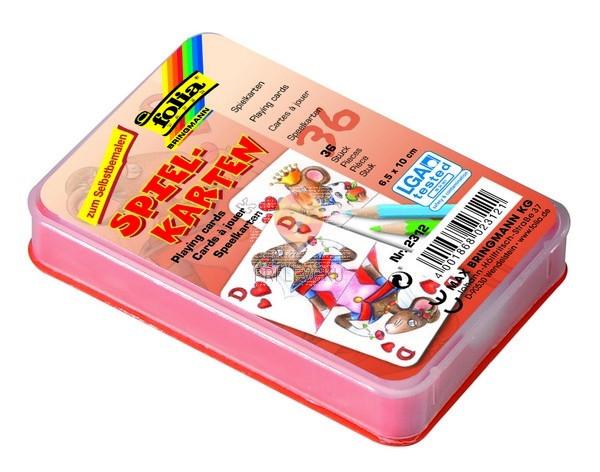 Bele igralne karte 6,5x10cm 36 kosov