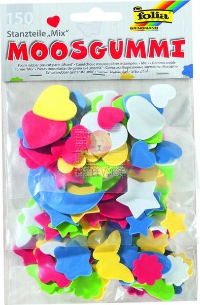 Izrezane moos gumi oblike Mix 150 kos