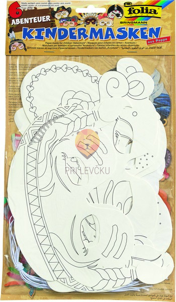 Papirnate maske Pustolovščina 6 kosov