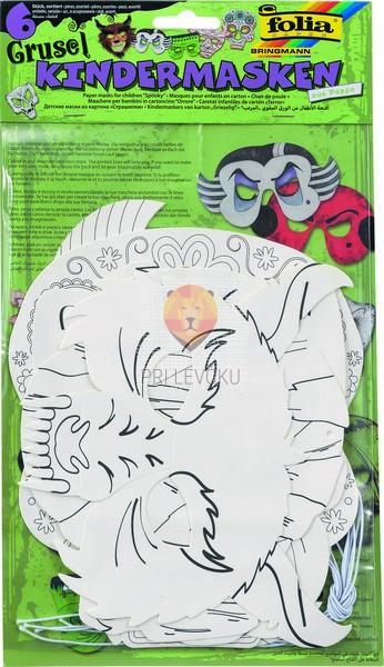 Papirnate maske Spooky 6 kosov