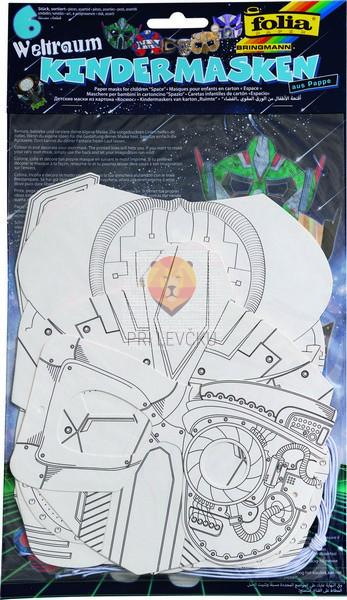Papirnate maske Roboti 6 kosov