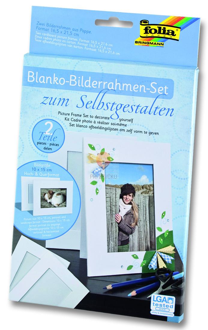 Set 2 kartonastih okvirjev za fotografije 10x15cm