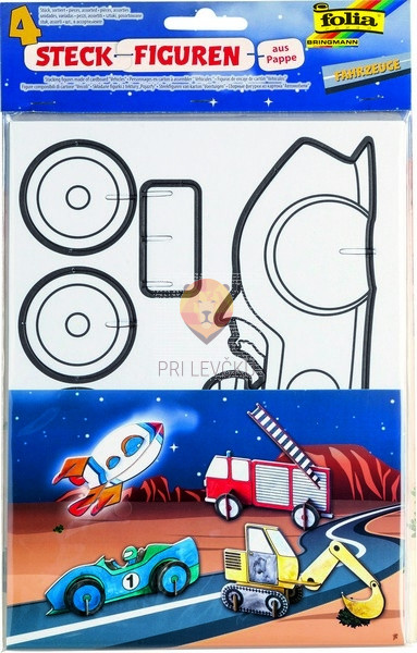 Predloge za stoječe figurice iz kartona Vozila 4 kosi