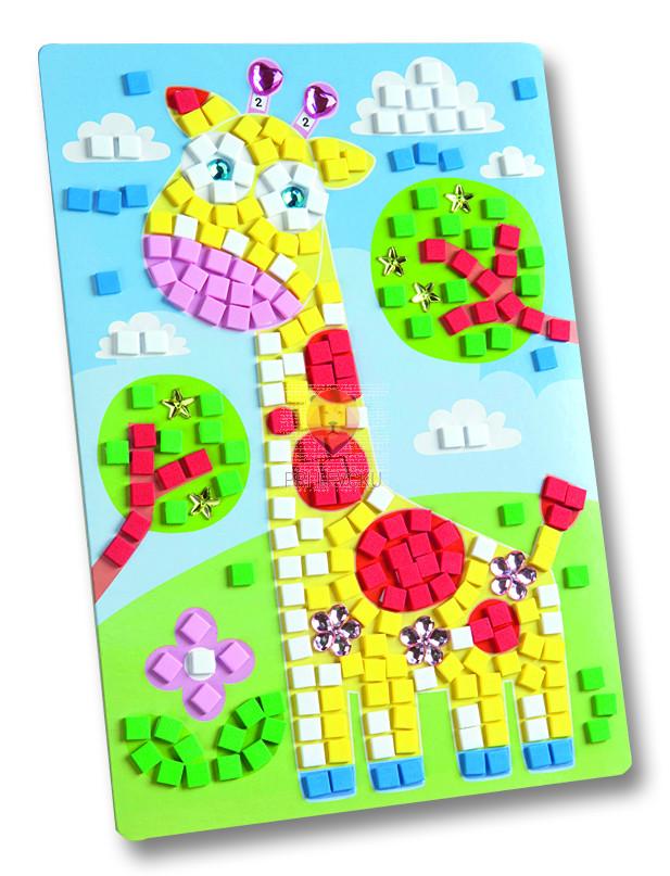 Moos gumi mozaik Žirafa