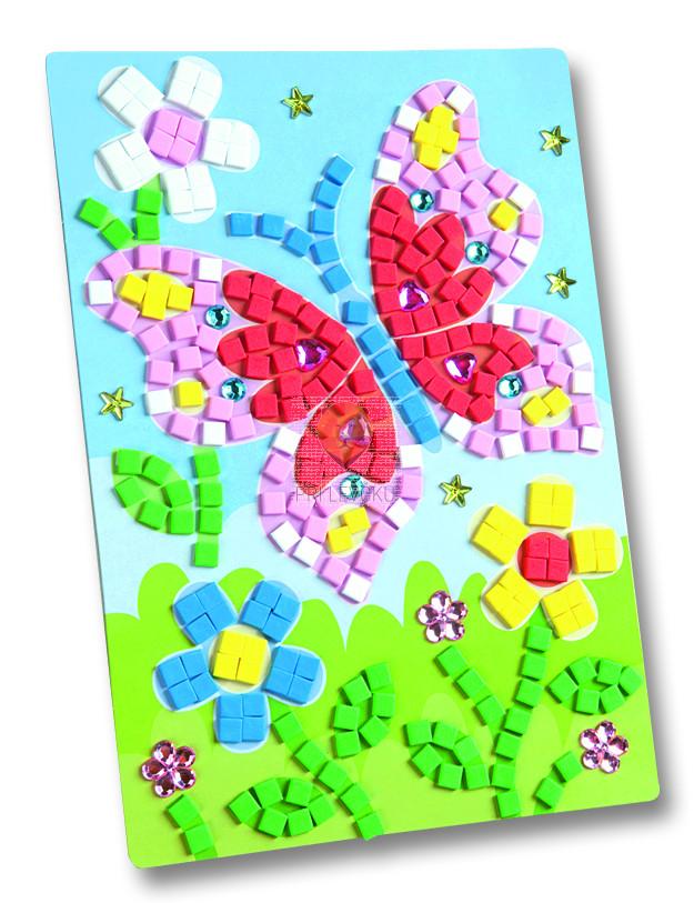 Moos gumi mozaik Metulj