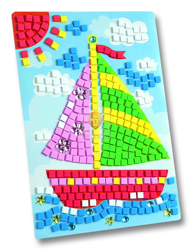 Moos gumi mozaik Ladjica