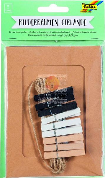 Girlanda iz kartonastih okvirčkov set 19 delov