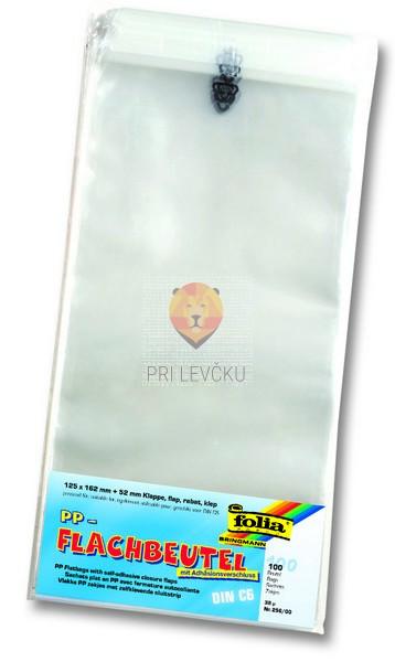 Celofan vrečke ploščate s samolepilnim robom 100/1