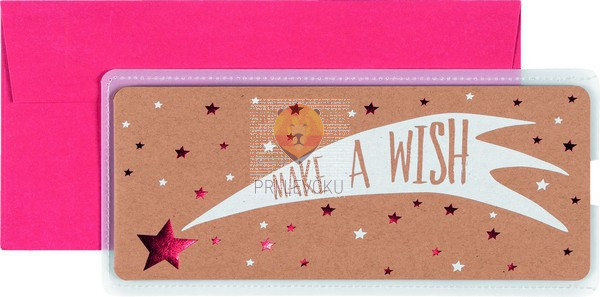Darilna kuverta Make a wish 23x11cm