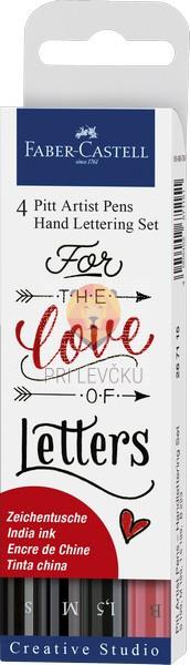 Pigmentiran tuš Lettering set Love 4 kosi