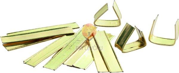 Zapirala za celofan vrečke zlate barve 25 kosov