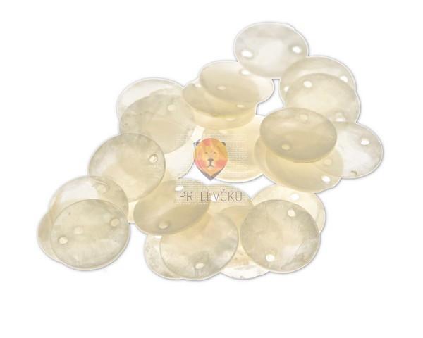 Perle biserne ploščice 15mm 30kosov