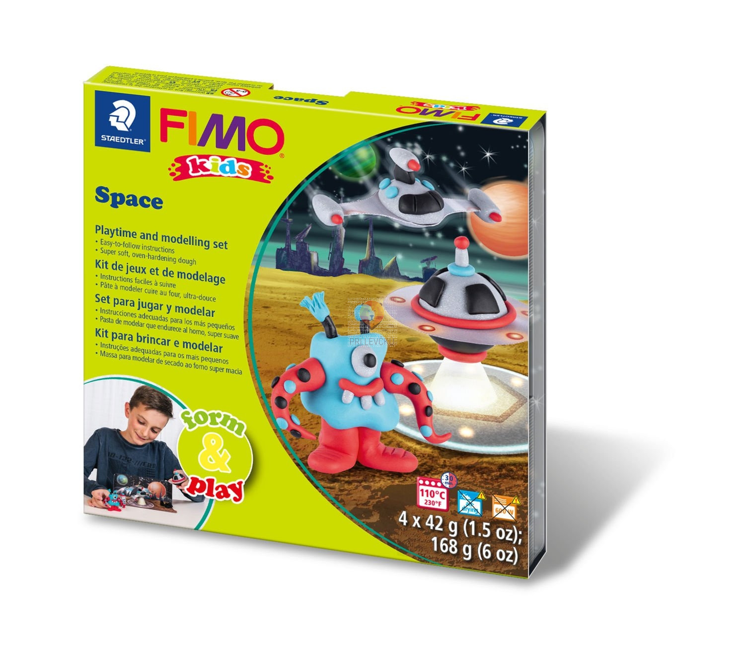 Set polimerne mase Fimo Kids Space Moster