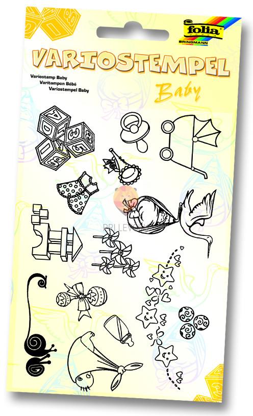 Silikonske štampiljke - set Baby