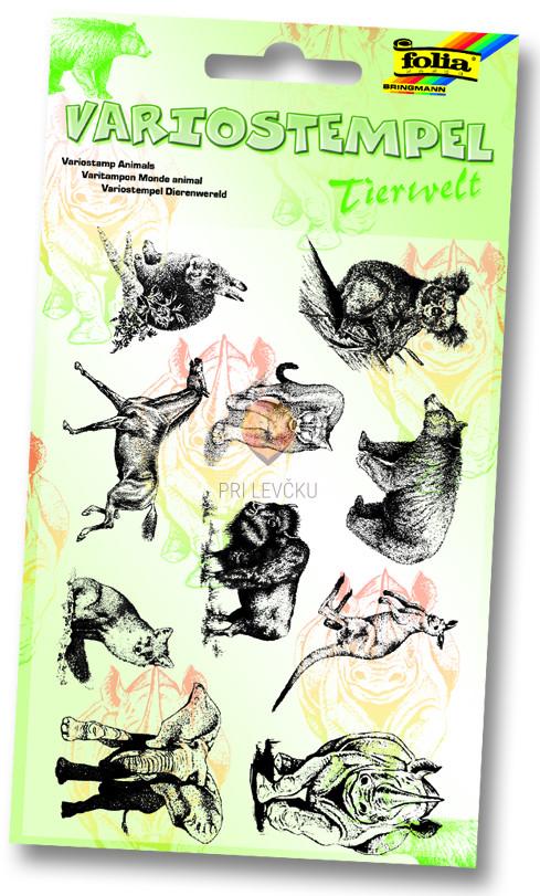 Silikonske štampiljke - set Živali