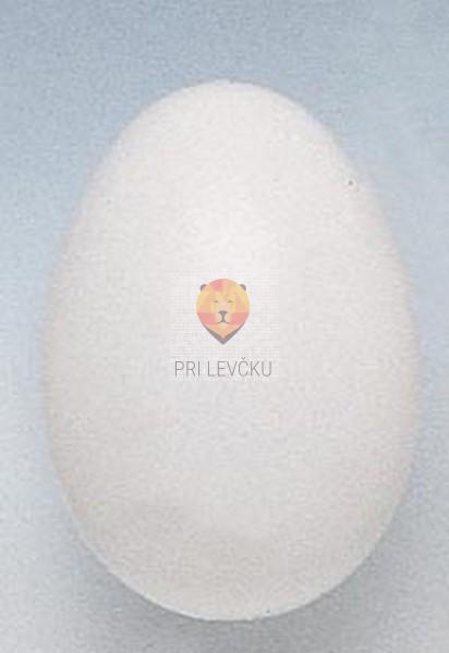 Plastično belo jajce 8,5cm 1 kos